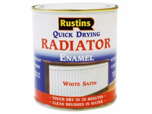 Quick Dry Radiator Enamel Paint Satin White 500ml