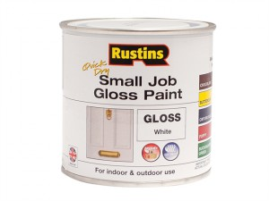 Quick Dry Small Job Gloss Paint White 250ml