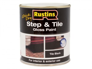 Quick Dry Step & Tile Paint Black 250ml