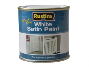Quick Dry White Satin Paint 250ml