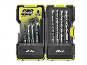 RAK-08SDS SDS Drill Bit Set, 8 Piece