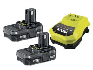 RBC 18LL ONE+ 18V Batteries & Charger 18 Volt 2 x 1.3Ah Li-Ion