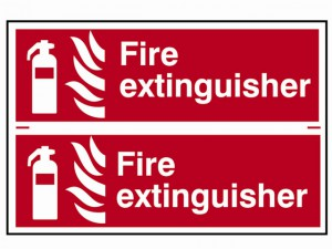 Fire Extinguisher - PVC 300 x 100mm