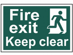 Fire Exit Keep Clear - PVC 300 x 200mm
