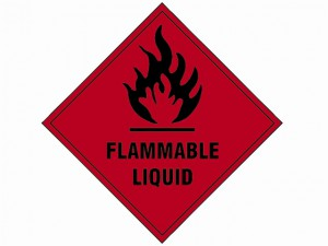 Flammable Liquid SAV - 100 x 100mm