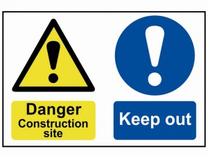 Danger Contruction Site Keep Out - PVC 600 x 400mm