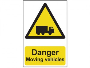 Danger Moving Vehicles - PVC 400 x 600mm