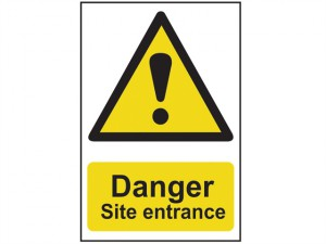 Danger Site Entrance - PVC 400 x 600mm