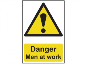 Danger Men At Work - PVC 400 x 600mm