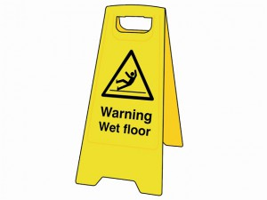 Warning Wet Floor Heavy-Duty A Board