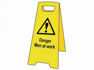 Danger Men At Work Heavy-Duty A Board