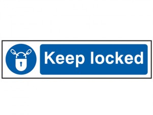 Keep Locked - PVC 200 x 50mm