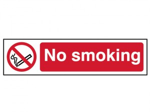 No Smoking - PVC 200 x 50mm