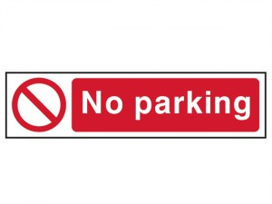 No Parking - PVC 200 x 50mm
