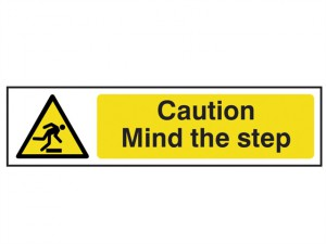 Caution Mind The Step - PVC 200 x 50mm