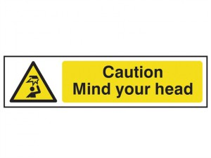 Caution Mind Your Head - PVC 200 x 50mm