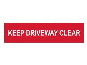 Keep Driveway Clear - PVC 200 x 50mm