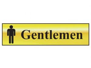Gentlemen - Polished Brass Effect 200 x 50mm