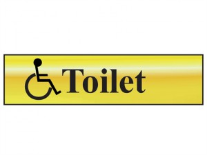 Disabled Toilet - Polished Brass Effect 200 x 50mm