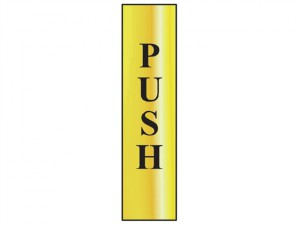 Push Vertical - Polished Brass Effect 50 x 200mm