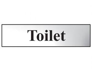 Toilet - Polished Chrome Effect 200 x 50mm