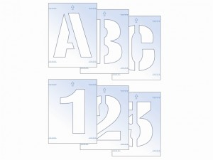Letter & Number Stencil Kit 25mm