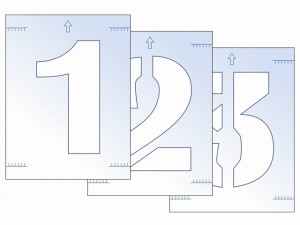 Number Stencil Kit 300mm