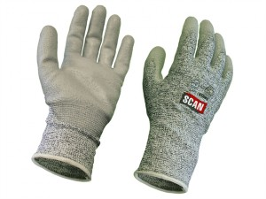Grey PU Coated Cut 5 Gloves - Large (Size 9)