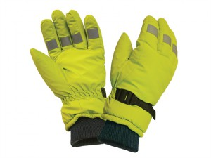 Hi-Visibility Gloves, Yellow Large