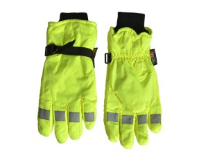 Hi-Visibility Gloves, Yellow - Extra Large