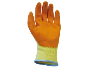 Knit Shell Latex Palm Gloves Orange - Large (Size 9) (Pack 12)