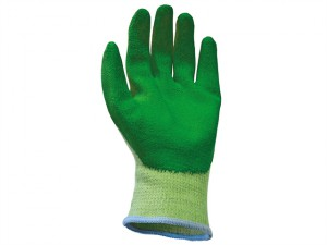 Knit Shell Latex Palm Gloves Green - Extra Large ( Size 10) (Pack 12)