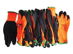 Knitshell Thermal Gloves (12) Orange / Black Size 10