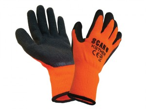 Thermal Latex Coated Gloves - Large (Size 9)