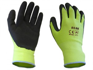 Yellow Foam Latex Coated Glove 13g - XL