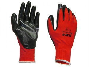 Palm Dipped Black Nitrile Glove - XL
