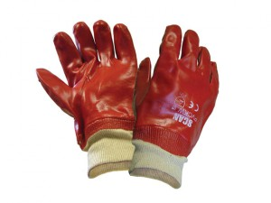 PVC Knitwrist Gloves - Large (Size 9)