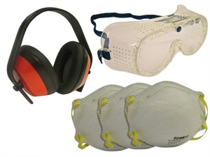Safety Kit - Goggles, Earmuff & Masks