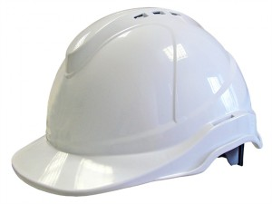 Superior Safety Helmet White Ratchet Adjustment