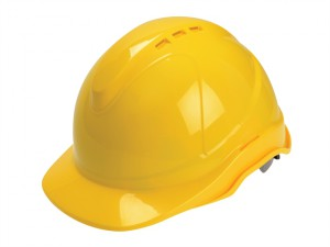 Superior Safety Helmet Yellow Ratchet Adjustment