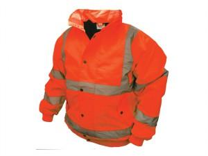Hi-Vis Bomber Jacket Orange - M (41in)