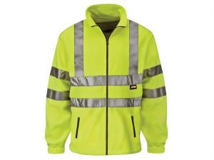 Hi-Vis Yellow Full Zip Fleece - XXL (50in)