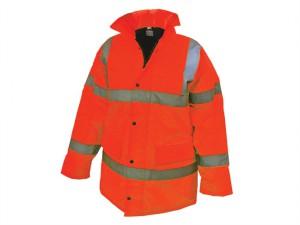 Hi-Vis Orange Motorway Jacket - L (44in)