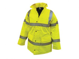 Hi-Vis Motorway Jacket Yellow - XXL (52in)