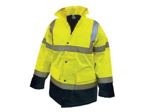 Hi-Vis Motorway Jacket Yellow Black - L (44in)