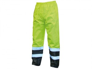 Hi-Vis Motorway Trouser Yellow Black - L (38-40in)
