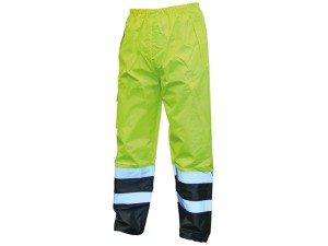 Hi-Vis Motorway Trouser Yellow Black - M (34-36in)