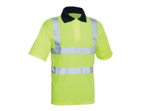 Hi-Vis Yellow Polo Shirt - L
