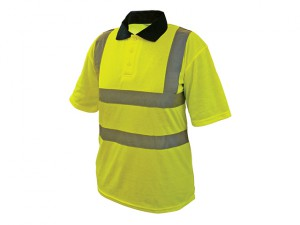 Hi-Vis Yellow Polo Shirt - Medium