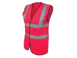 Hi-Vis Waistcoat Pink - M (41in)